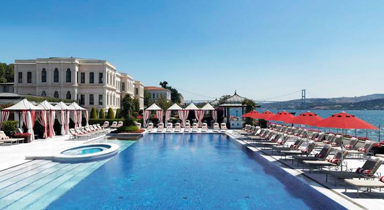 Отели Стамбула с видом на Босфор и бассейном
